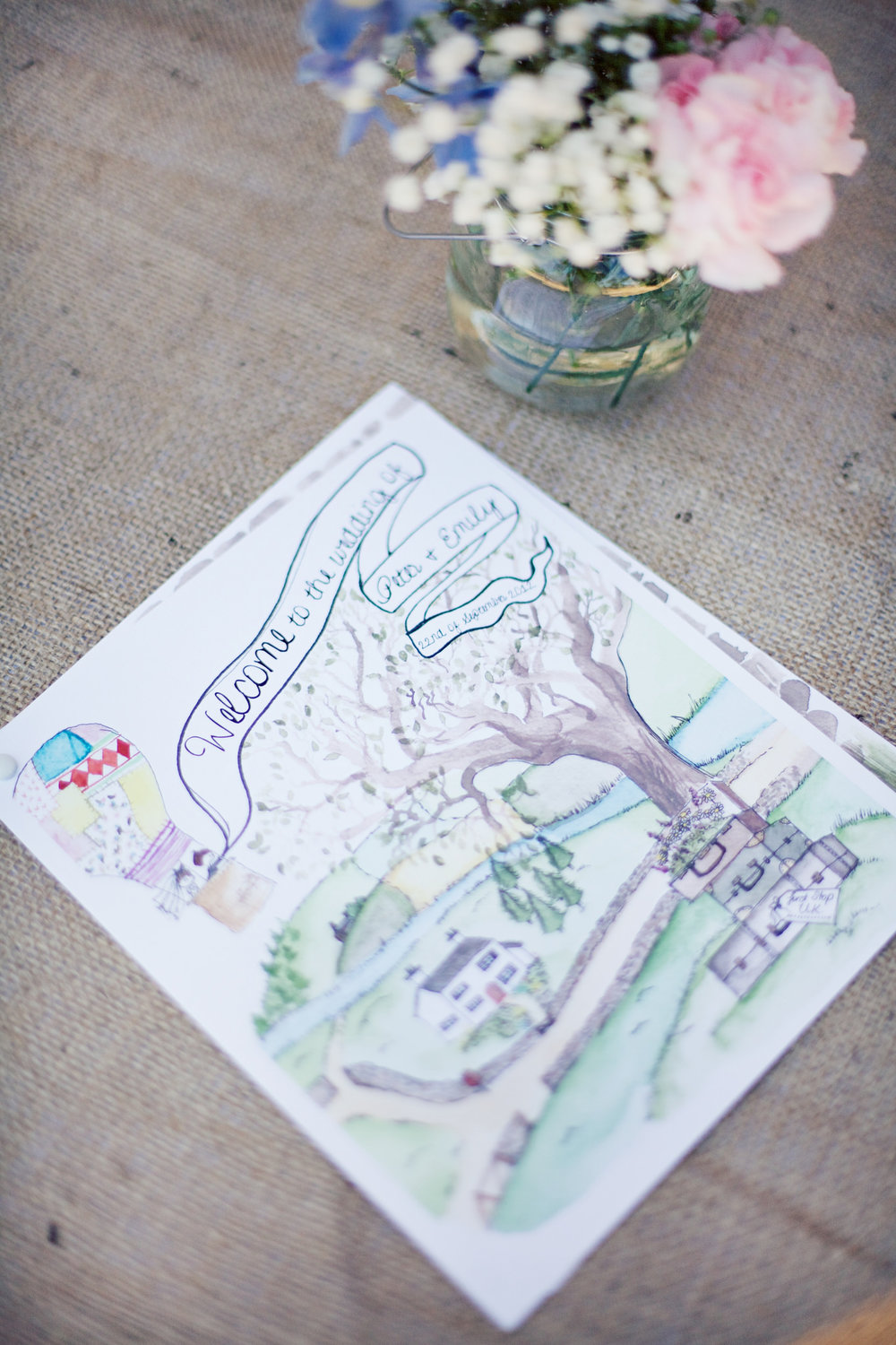 Stationery by  Berry & Peg.  Photography by  Lady Jayde Photography . This one is from our own wedding. One of these days, we're planning to frame it as we love it to pieces.