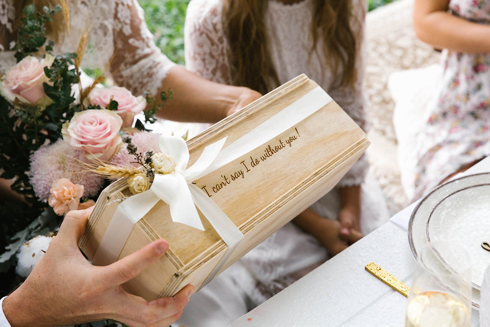 Gift box by  The Bridal Box Co . Photography by  Poppy & Sage Photography .