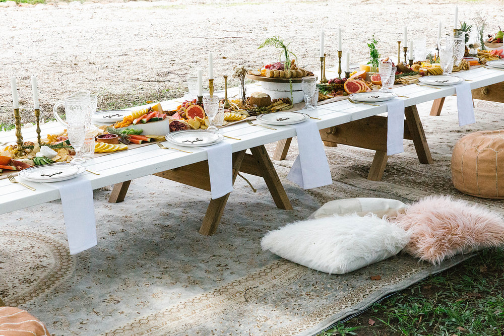 Furniture by  Click Picnic . Photography by  Poppy & Sage Photography .
