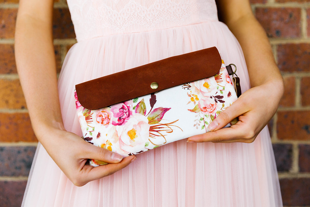 Clutch by  Raw Cotton . Photography by  Poppy & Sage Photography .