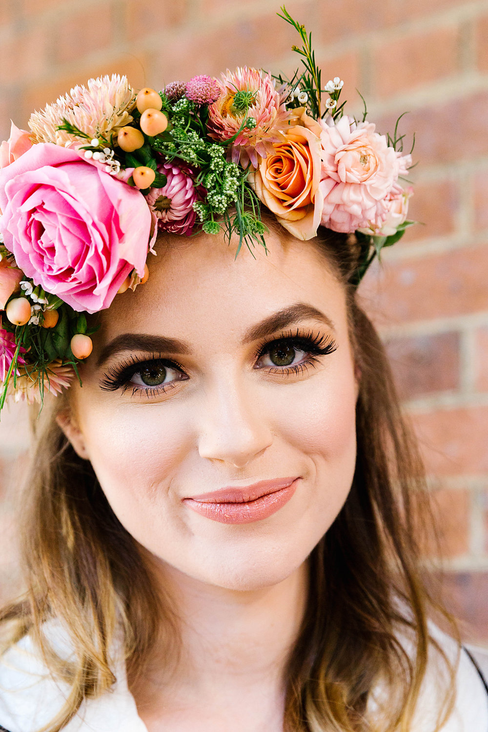 Flowercrown by  Bumble & Bloom . Photography by  Poppy & Sage Photography .