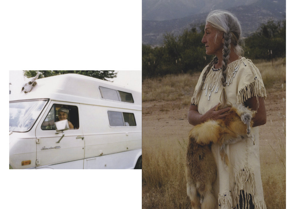 Left . The Arizona Dream Van.  Right . Just Joan