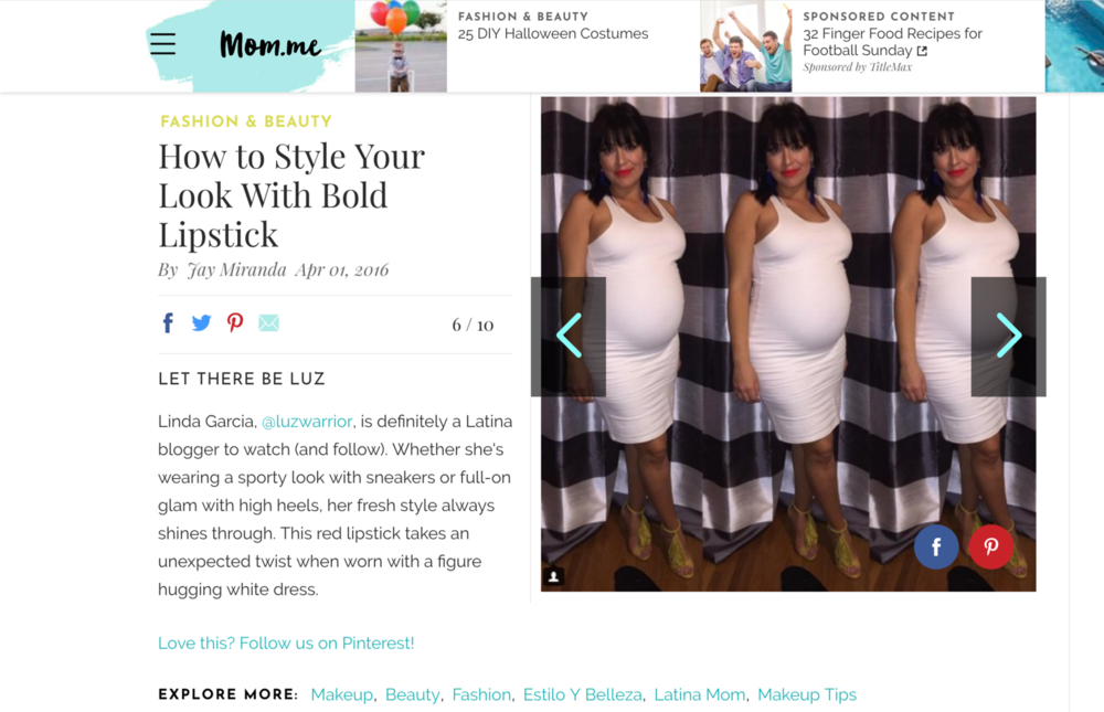Featured on - mom.me