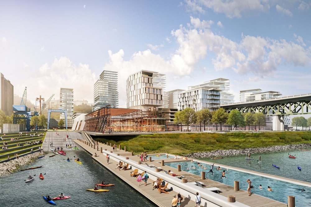All renderings courtesy of  Zidell Yards