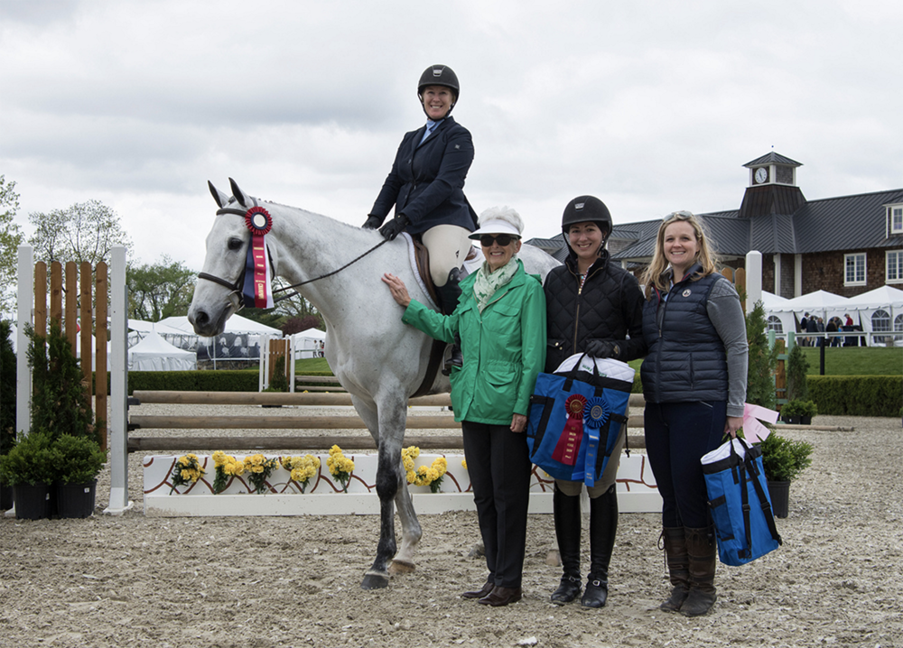 Rizzi's Comet was Reserve Champion with rider Heather Hays with owner Jessica Ott, Vivien Malloy and Caitlin Malloy Brennan