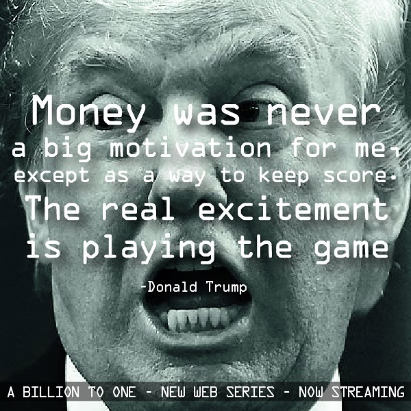 Watch the first 6 episodes of this new global web series about #money and who deserves it.  Now streaming amazon bit.ly/ABillionToOne and YouTube.com/collabfeature
