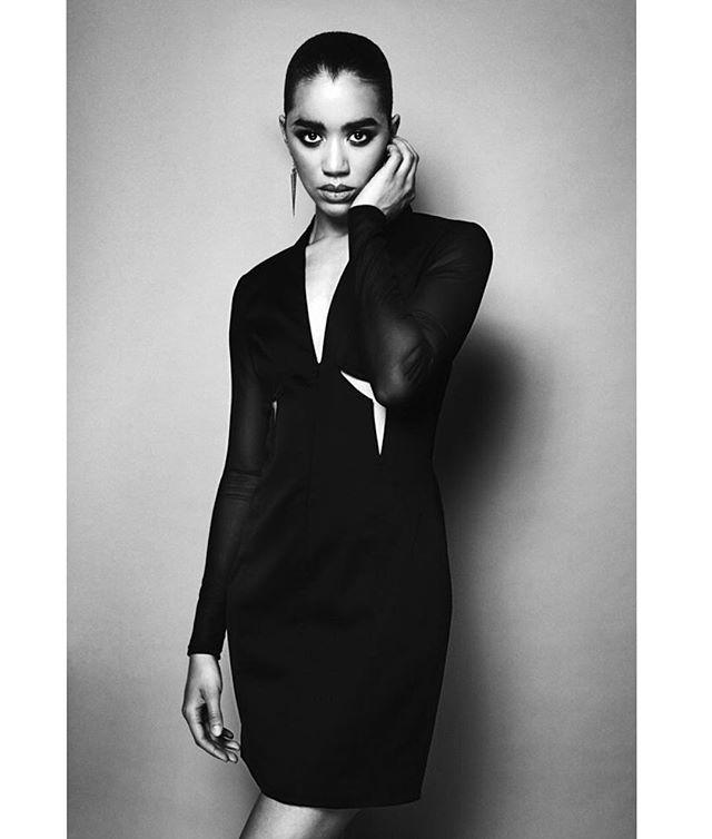 Moody feels with @jasminsavoy 💄 #facebypua 💇 @see_miles 👔 @brvndo @arthunter.stylist 📸 @ryanwestphoto