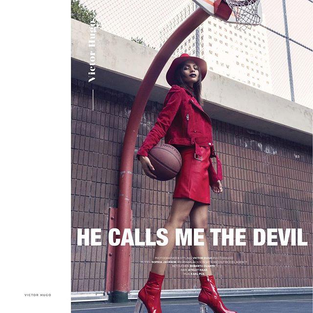 """He Calls Me The Devil"" for @theeditorialqc 💄 #facebypua 💇 @ayelethaar 👔📸 @victorhugo.jpg retouch: @bert.jpg 👤 @sophiamjackson @scoutmodelagency"
