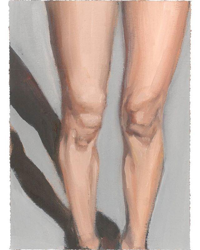 Estudio de piernas Óleo sobre papel / Study of legs Oil on arches paper . . . #marie_ajras #oilpainting #legs #artist #painting #model #artcollector #canvas