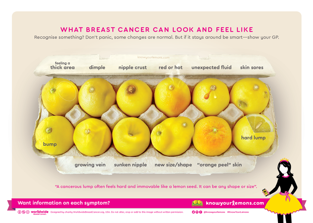 12 signs of breast cancer using lemons