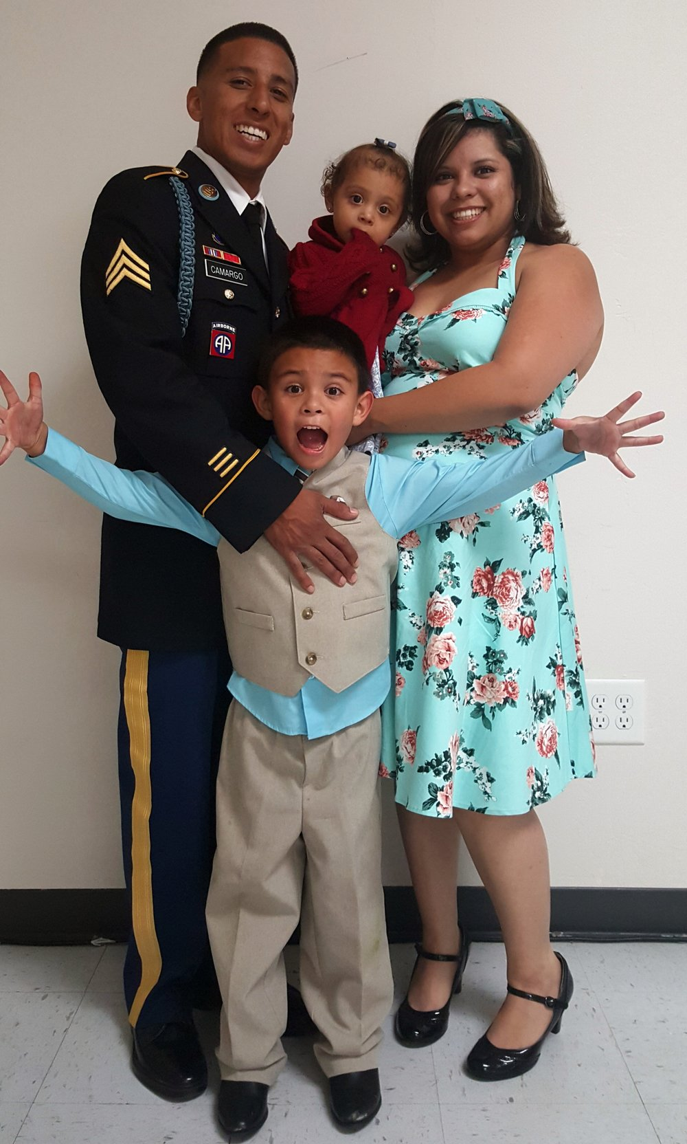 """""""2015 was a hell of a year,""""   said Camargo, """"I don't know what we would have done if we hadn't found out about the California Military Department Foundation."""" [When] it seemed like everything that could go wrong was going wrong … the Foundation was there to help sustain us."""""""