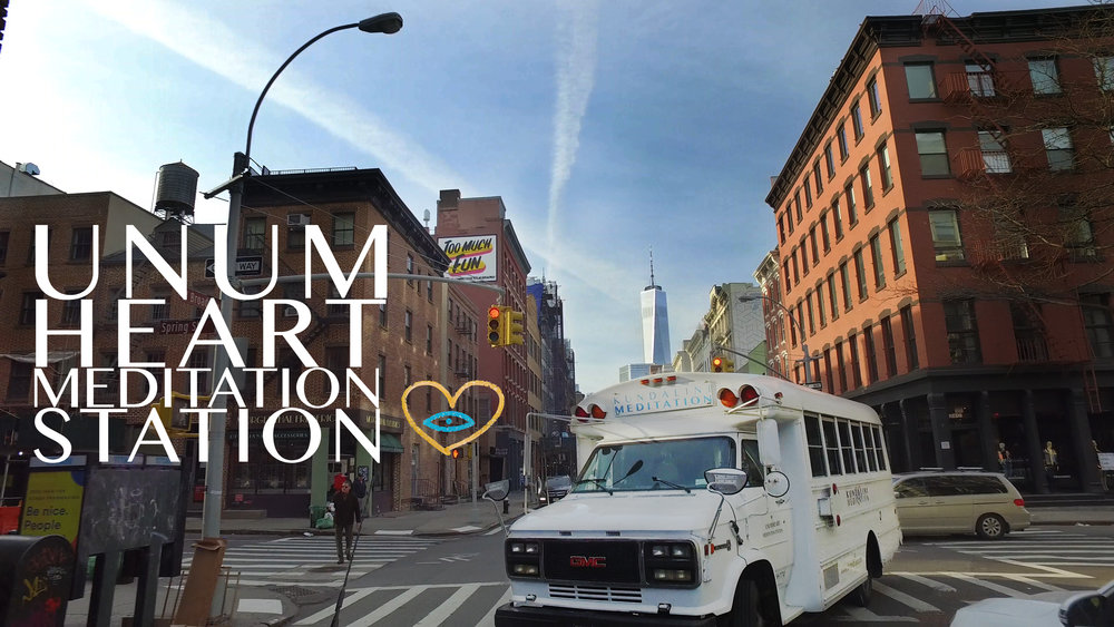 Unum Heart Meditation Station in the heart of NYC. photo: Michelle McCabe