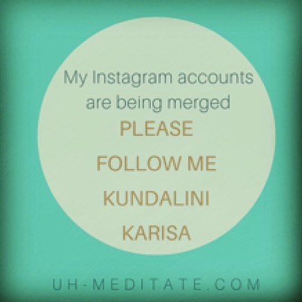 Sat Nam everyone!!! I've decided to merge my Instagram accounts. My Union Heart Meditation Station and Kundalini Karisa are becoming one.  Please be sure to merge with me. Flow me @Kundalini Karisa to see all my workshops, classes and Meditation Bus offerings!  #💜