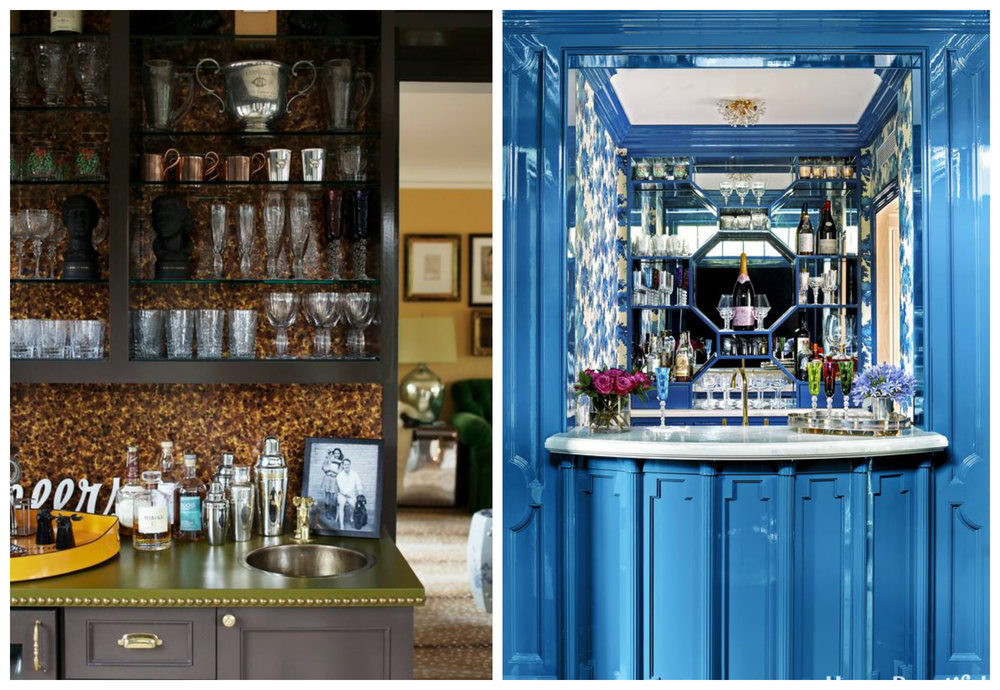 Right: McCarthy's own jewel box of a bar was just published in House Beautiful this month. Can I live in there?