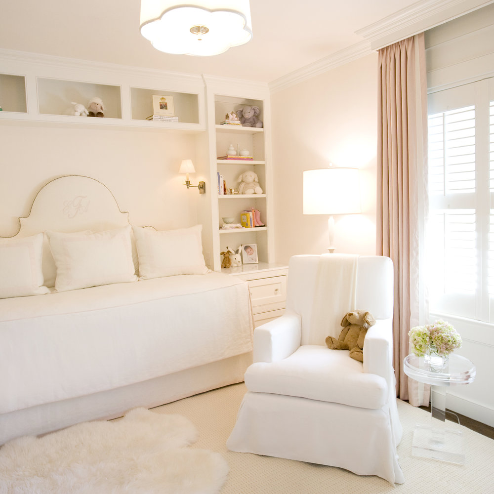 Courtney's little girl's room is one of the most darling I've seen. I want the headboard and bed niche for my own room!