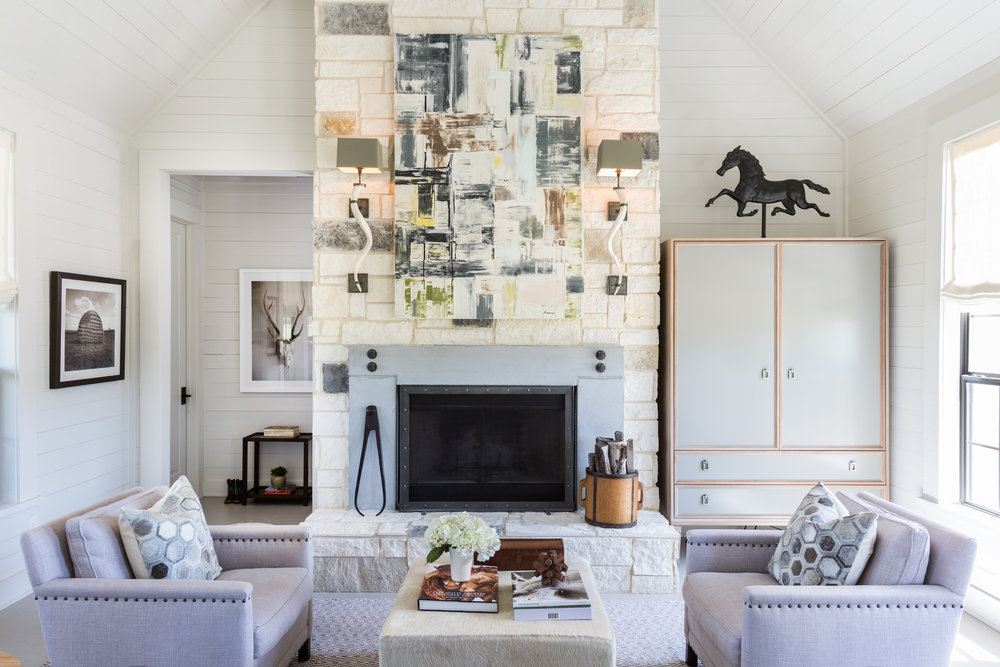 I wouldn't expect to find soft lilacs and blue-grays in a farmhouse, and that's exactly what I love about this.