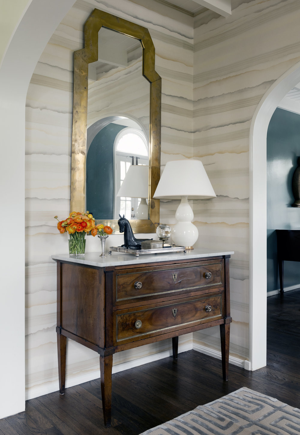 Courtney loves pairing antiques with fresh modern touches.