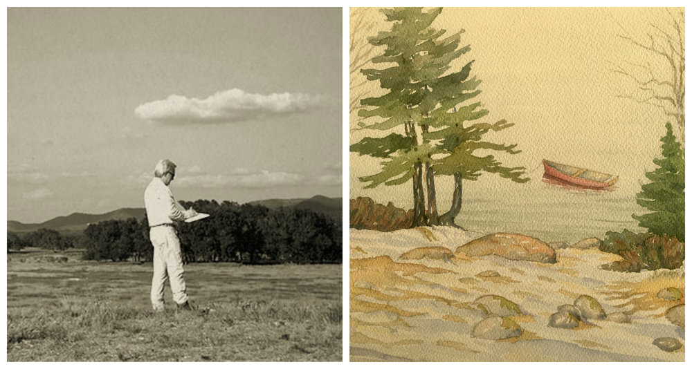 You'll rarely find my dad without a sketchbook an arm's reach away. See more of his work  here .