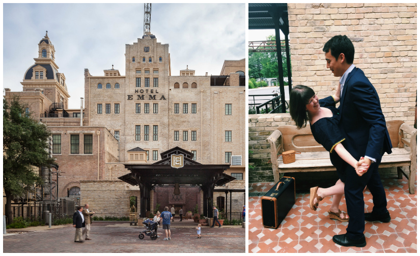 Hotel Emma is named after Emma Koehler, the wife of Pearl Brewery's President Otto Koehler. [Left Photo Source:  The Spaces ]
