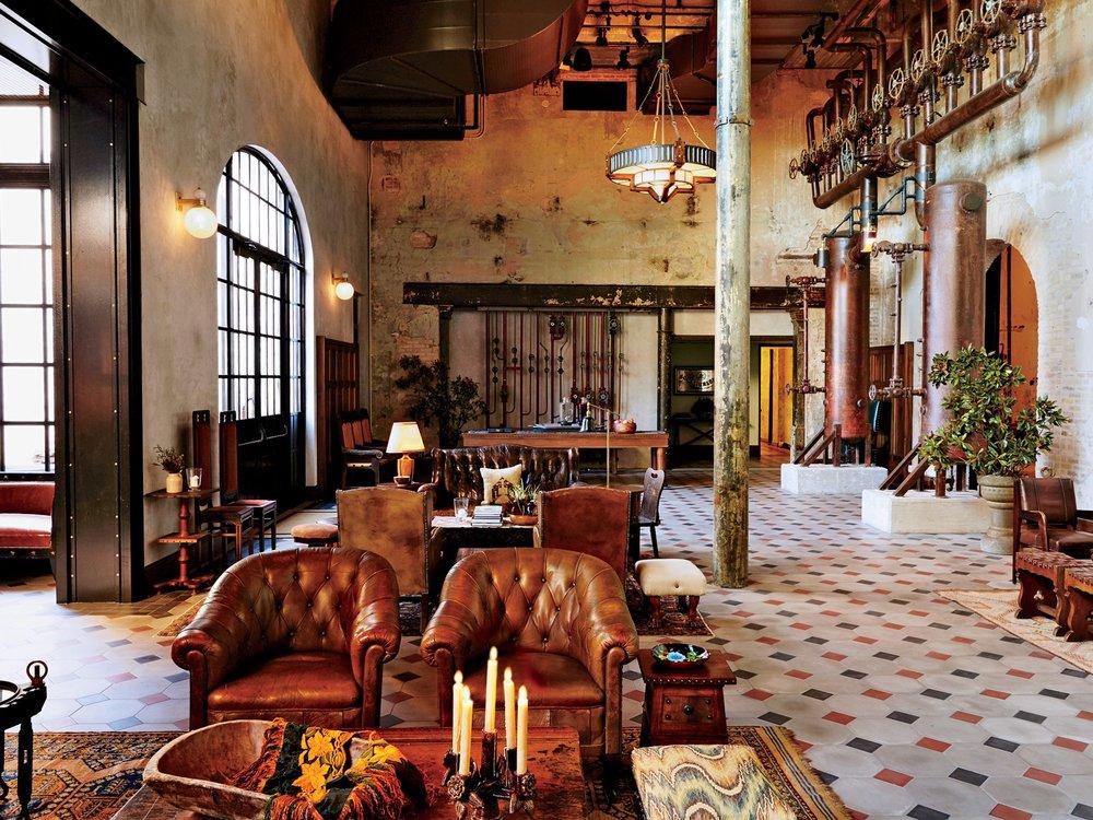 Emma's warm and inviting lobby.[Photo Source:  Conde Nast Traveler ]