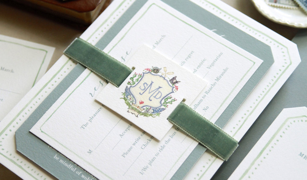 Invitation suite and photo by Michael Musser of  Anticipate Invitations