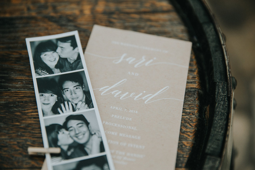 We wanted to keep the program lighthearted and more casual to reflect who we are as a couple, since the ceremony was outside overlooking the Texas hill country, rather than in a formal church.