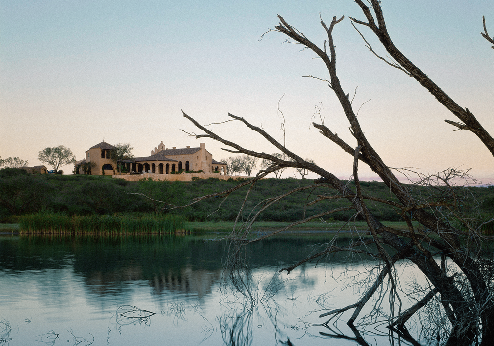 "Rancho Dos Vidas: ""The compound draws its forms, geometry, and details from the Spanish colonial archetypes of south Texas and northern Mexico: missions, haciendas, presidios, and public places familiar to the outposts of the frontier."""