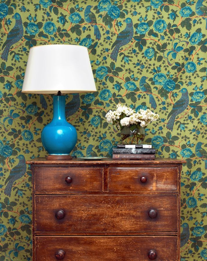 Wallpaper from Schuyler's textiles line. Source:    Architectural Digest