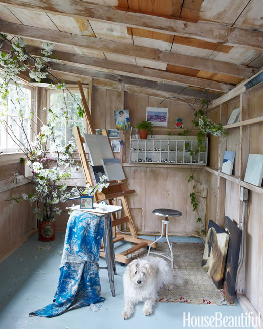 Okay, I need this art studio. Source:    Schuyler Samperton