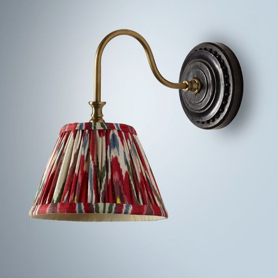 Sconces deserve gathered shades, too!