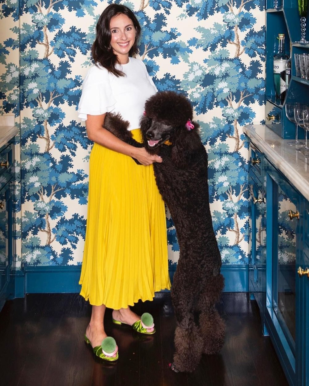 Bailey and her fabulous poodle Barbara.