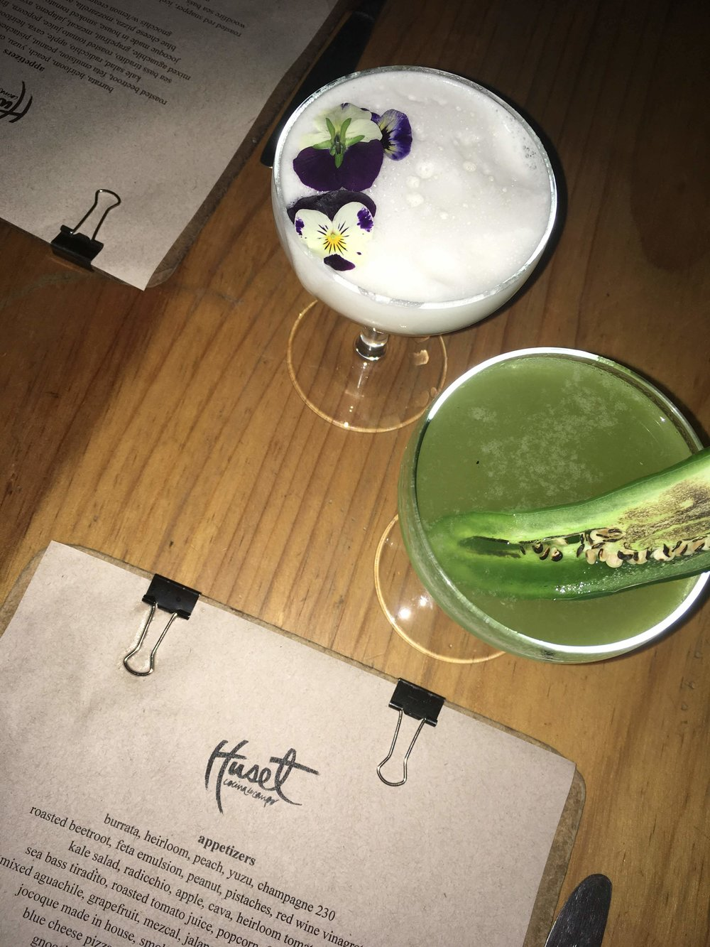 I thoroughly enjoyed my japapeno tequlia cocktail