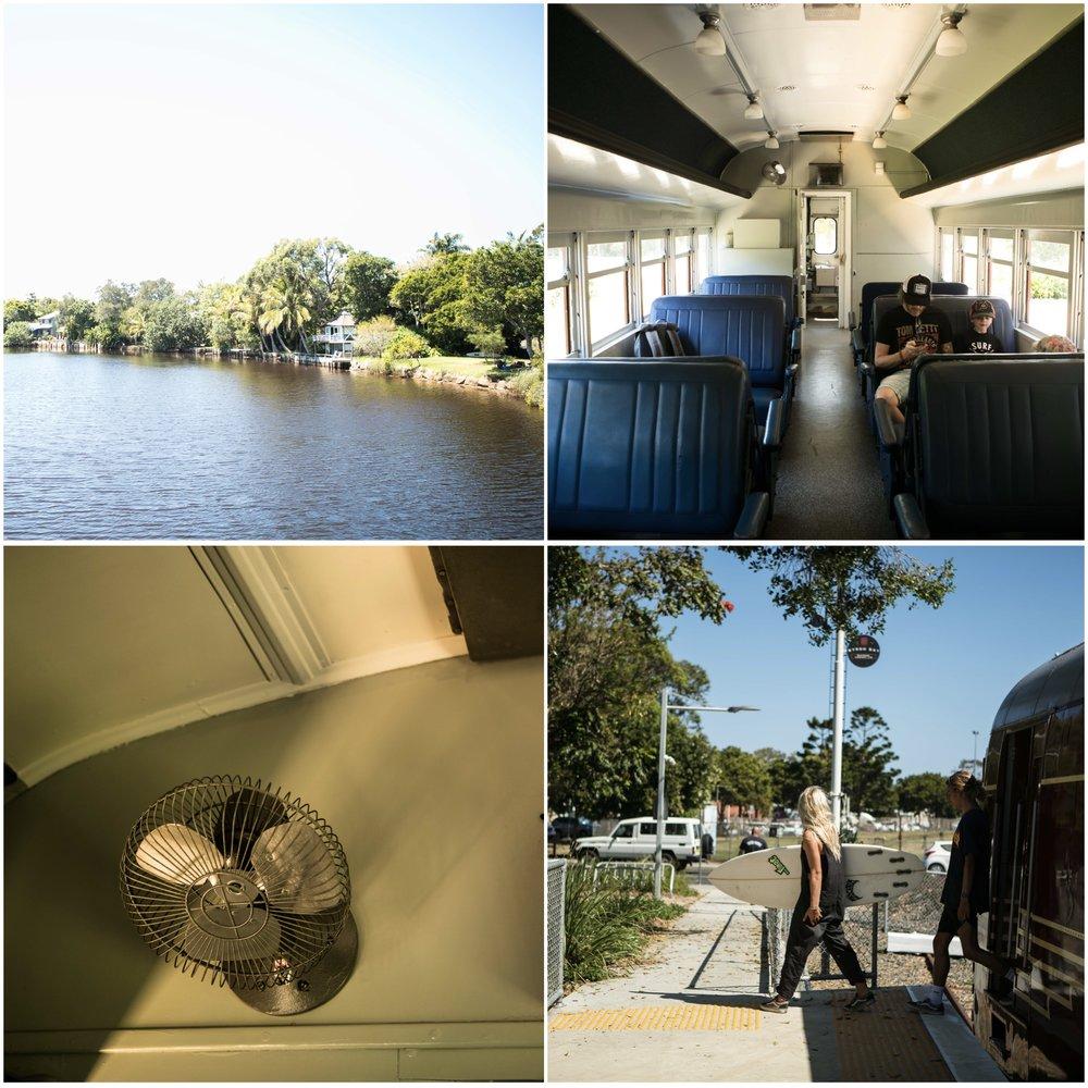 byron bay solar train, byron bay