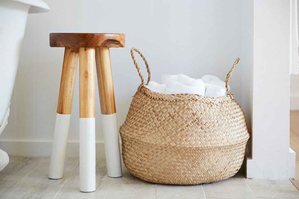 Organic Towels in Master Bathroom