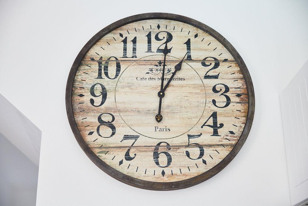 Antique Clock in Kitchen