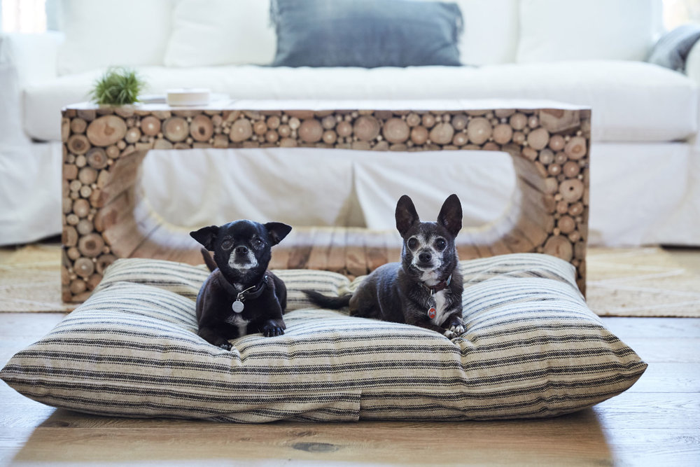 Linen Dog Bed
