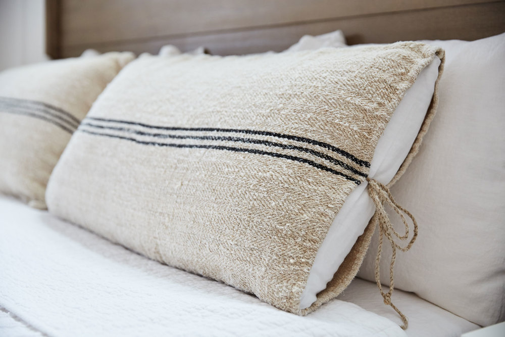 Linen Grain Sack Pillow Cases
