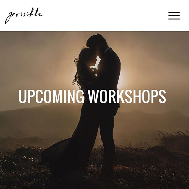 Our new website is officially live. Details for upcoming workshops have been posted. Check it out 😎! Link in profile above.  #possibleworkshop