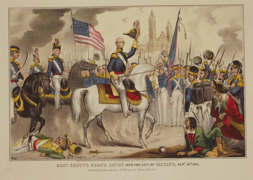 Gen. Scott's grand entry into the City of Mexico, Sept. 14, 1847