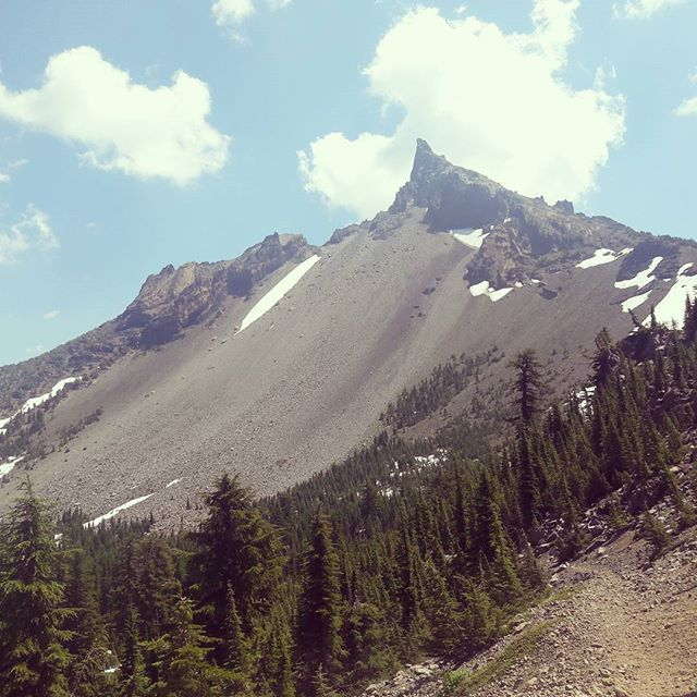 "This #mountain has never asked for ""a little off the top"". #mtthielsen #oregon #cascades #pct #pacificcresttrail"