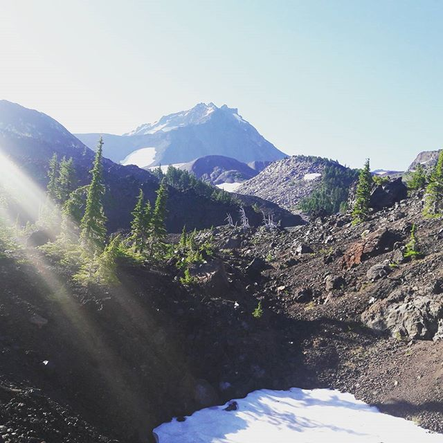 One of the Three Sisters in the morning light...#pct #3sisters #pacificcresttrail #oregon #mountain #mordor