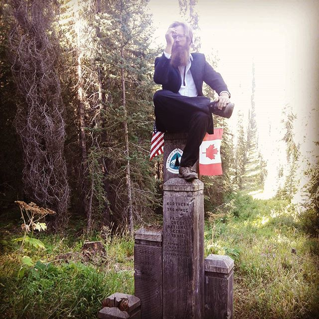 On the #monument next to #Canada. #pct #pacificcresttrail #washington