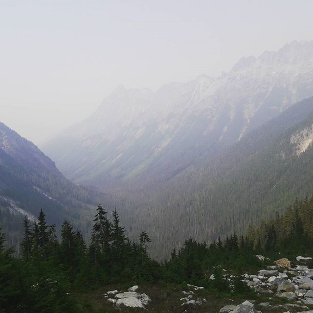 The #Cascades don't let up when it comes to the views. #pct #pacificcresttrail #washington #mountains