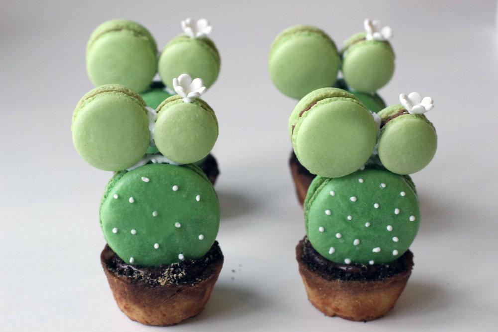 Cactus Macarons, ©2017 Creme Macarons