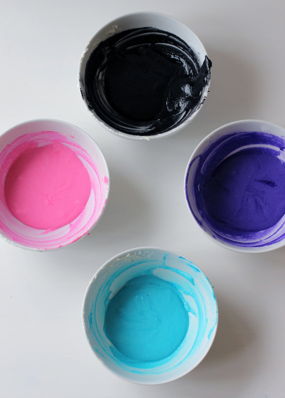 Step 1: Choose your colors and divide the batter.