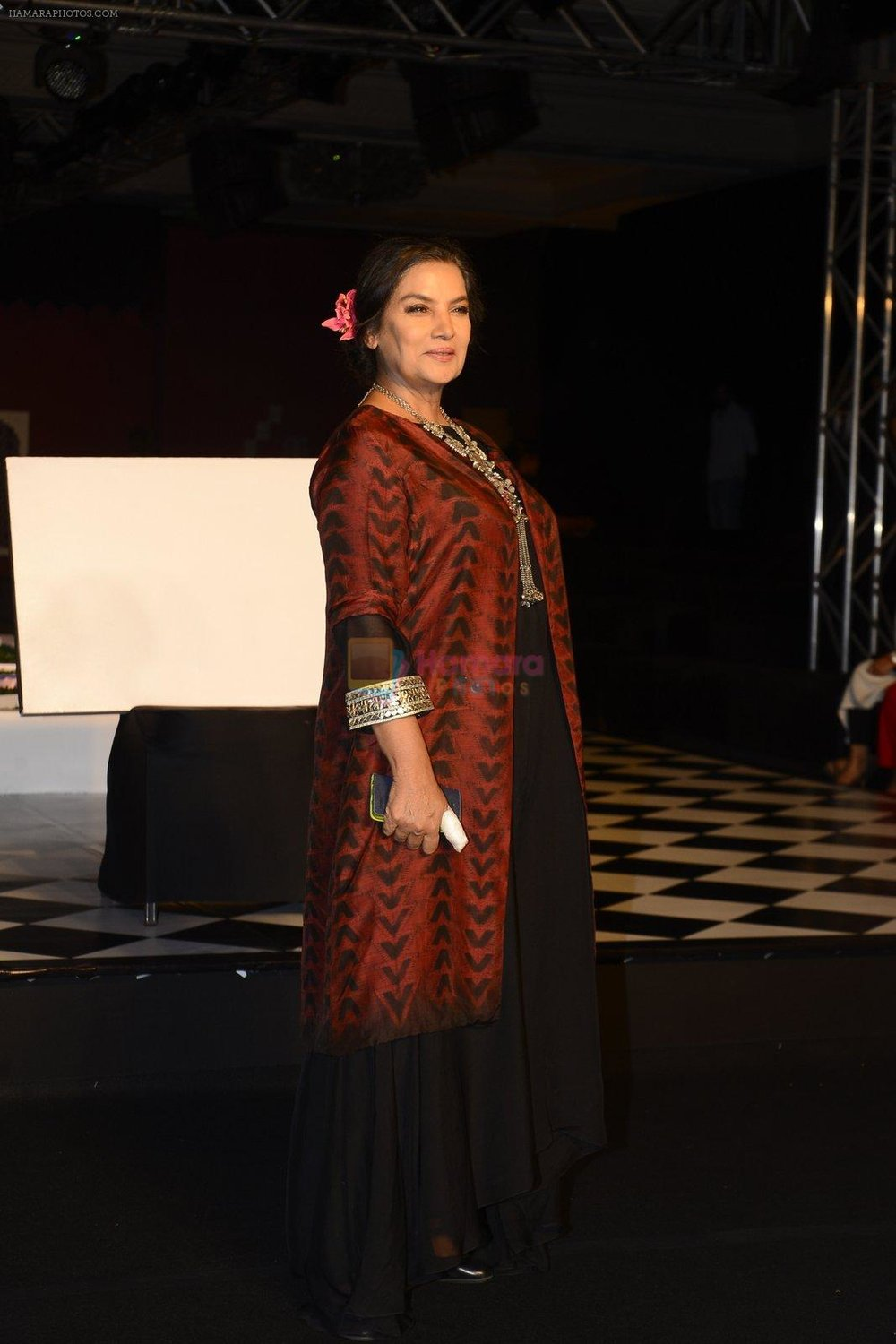 Shabana Azmi walk the ramp for Anita Dongre show at the FDCI India Couture Week 2016 on 21st July 2016 shown to user