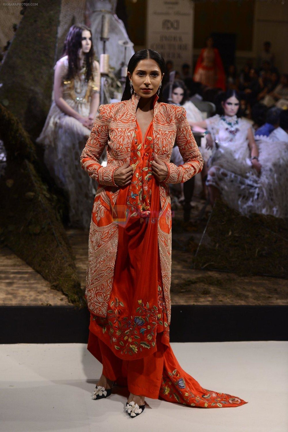 during Anamika Khanna showcase When Time Stood Still at the FDCI India Couture Week 2016 on 22 July 2016 shown to user