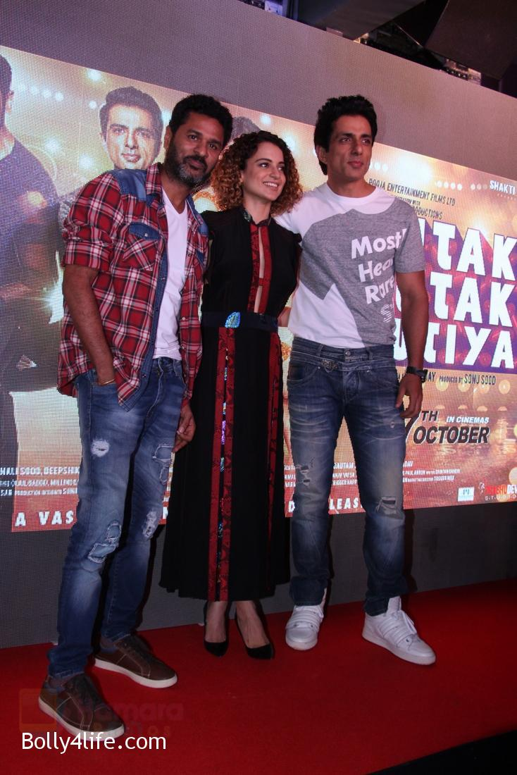 Kangana-Ranaut-Sonu-Sood-Prabhu-Deva-at-Tutak-Tutak-Tutiya-Song-launch-on-19th-Sept-2016-31.jpg