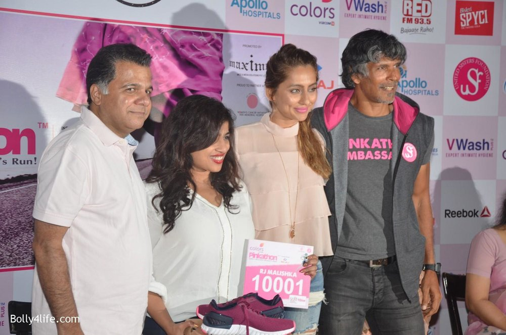 Raj-Nayak-CEO-Colors-RJ-Malishka-Bollywood-actor-Anusha-Dandekar-and-model-Milind-Soman-during-the-announcement-of-Fifth-Edition-of-Pinkathon-1.jpg