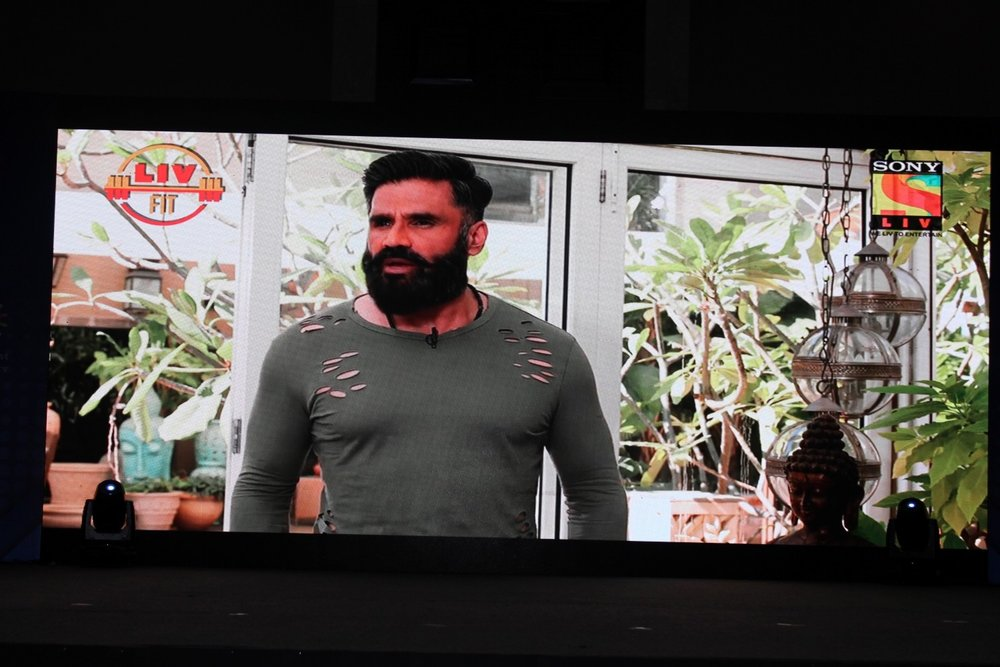 Mumbai: Actor  Suniel Shetty during the launch of fitness television show Liv fit will be soon aired on the Sony Liv channel in Mumbai on Jan 19, 2017. (Photo: (IANS)